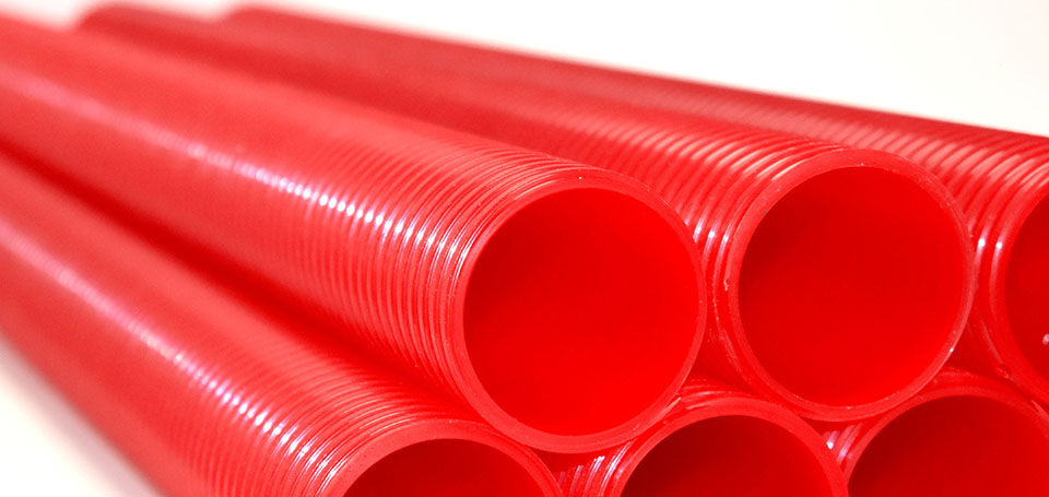 Grooved PU tubes